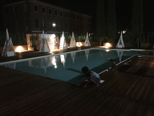 Our Hotel swimming pool at night