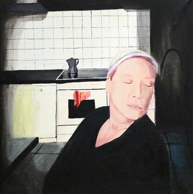 Agnes, Öl auf Leinen, 80x80cm