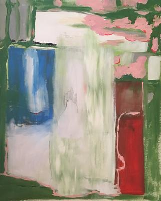 Astrid, Öl und Acryl auf Leinen, 140x110cm