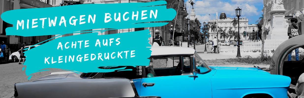 Der Travel Bloke Fernreise planen - Mietwagen buchen