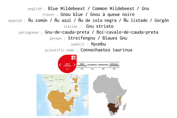Names, conservations status and distribution