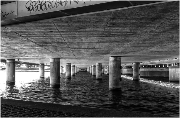 ...under the bridge...