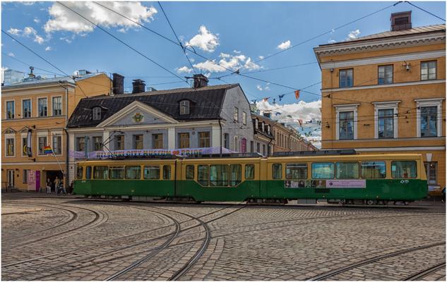 Straßenbahn am Senatsplatz