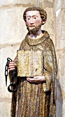 La très belle statue de saint Léonard