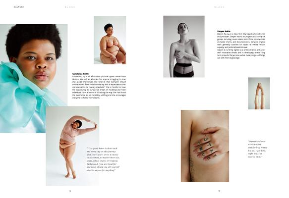 """Bodies"" for BLANC magazine Issue No.9 - photographer: renee bevan - stylist: bettina bati - hair: aviva leah fortuna - makeup: anie lamm-siu - model: constance & daryen @wespeak"