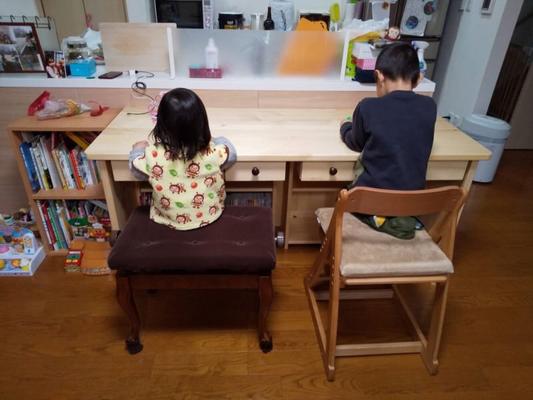 カウンター式学習机 家具工房ウッドスケッチ 岐阜県 加茂郡 川辺町 ウッドスケッチ 学習机
