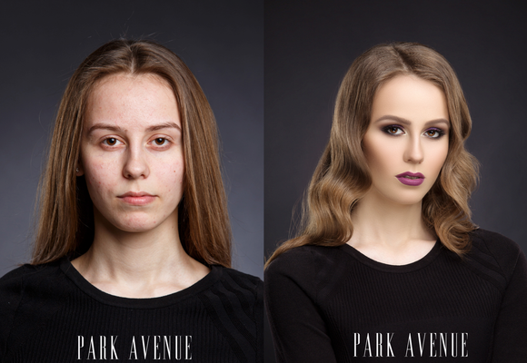 maquillaje antes y despúes