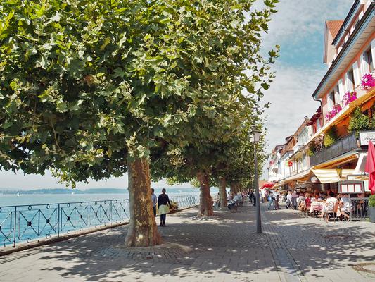 Die Promenade bietet Gastronomie für jeden Geschmack unmittelbar am See.