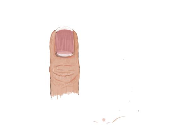 Skizze Zeigefinger