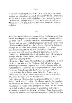 Irmentraud Kiefer, Saitis, Textauszug; Feline Texturen -Ein Katzenbuch