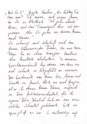 Martine Lombard, Handschrift