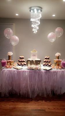 eerste verjaardag snoeptafel, eerste verjaardag candybuffet