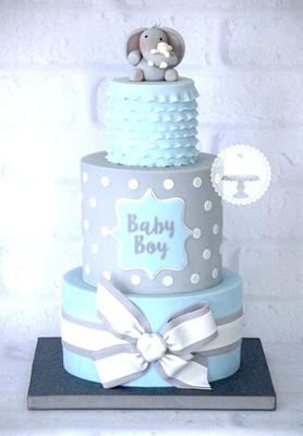 baby shower taart, babyshower taart jongentje, babyshower taart blauw