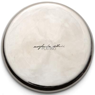 Color sample PLATINUM precious metal platinum 15% Margherita Vellini - Ceramic Lamps -  Home Lighting Design - Made in Italy