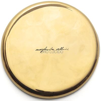 Color sample SHINY GOLD precious metal gold 15% Margherita Vellini - Ceramic Lamps -  Home Lighting Design - Made in Italy