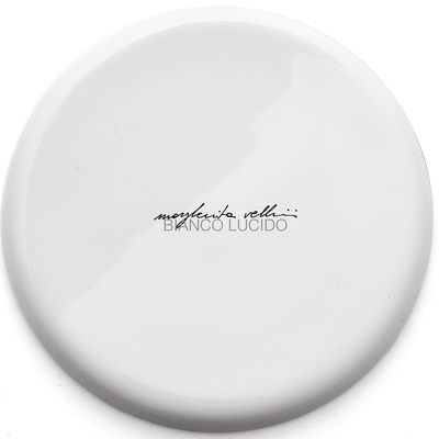 Color sample SHINY WHITE Margherita Vellini - Ceramic Lamps -  Home Lighting Design - Made in Italy