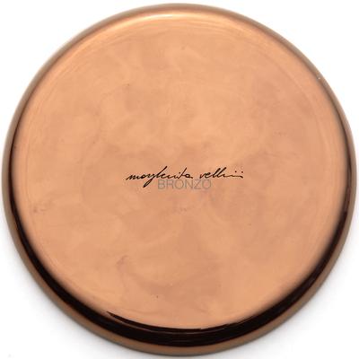Color sample BRONZE precious metal red gold 15% Margherita Vellini - Ceramic Lamps -  Home Lighting Design - Made in Italy