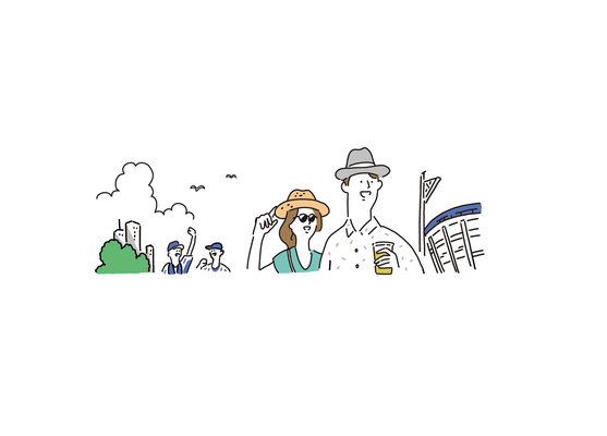 横浜市交通局広報誌「ぐるっと」挿絵イラスト | design:voids