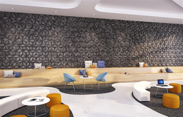 Auch große Wand Installation stellen kein Problem dar, die Vielfalt der 3 D Struktur ist enorm.