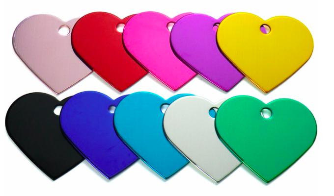 Schlüsselanhänger: farbig, Herz - Ø 3,75cm, 1mm
