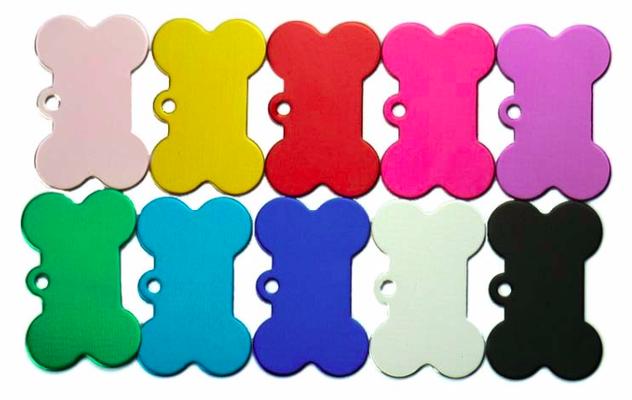 Schlüsselanhänger: farbig, Knochen - 4cm x 3,2cm, 1mm