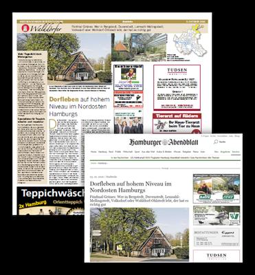 Stadtteilseite im Hamburger Abendblatt