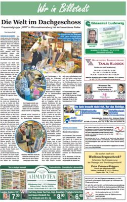 Wir in Billstedt, Sonderthema im Hamburger Wochenblatt