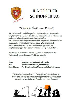 Jungfischer-Schnuppernachmittag der Fischerzunft Laufenburg, 26. Juni 2021.