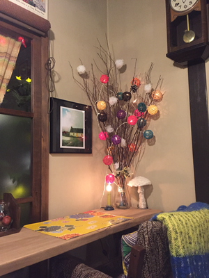ヒドリ食堂なりのクリスマスツリーその2。