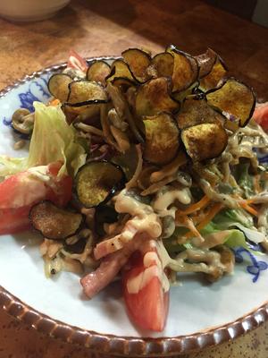 きのことナスの温製サラダ