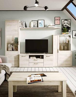 Fabricación de muebles de salón para apartamentos.