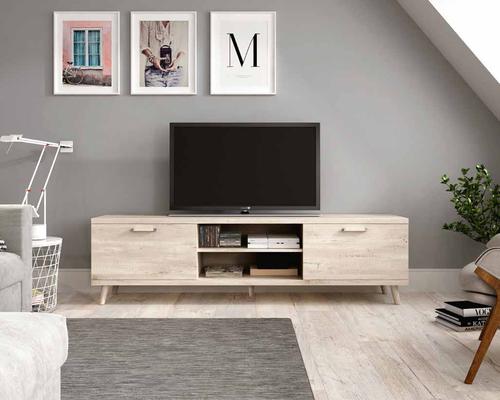 Mobiliario de salón, mueble tv de apartamento.