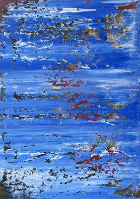 Ruf der Kraniche. 50 x 70 cm. 2016.