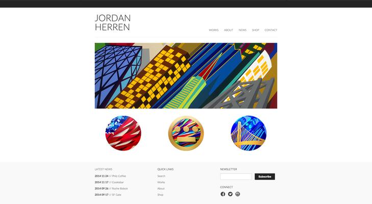 Jordan Herren's portfolio website