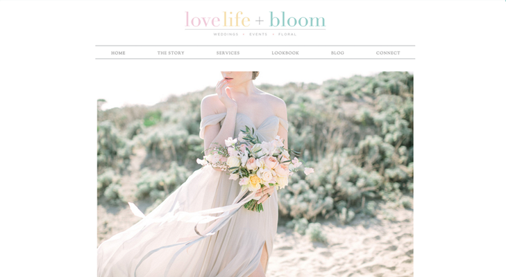 Love Life and Bloom website