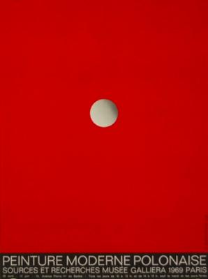 Roman CIESLEWICZ (1930-1996) Affiche Musée 1969 PEINTURE MODERNE POLONAISE Musée Galliera - Paris illustration: R. CIESLEWICZ Imp. Les Presses Artistiques dimensions 47,5 x 65 cm