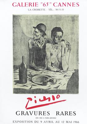 Pablo Picasso , gravures rares , Galerie 65 à Nice