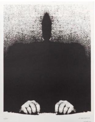 Roman CIESLEWICZ (1930-1996)  Empreinte Sérigraphie sur vélin, signée et numérotée 22/100 au crayon, Serg imprimeur Feuille: 64,5 x 50,5 cm