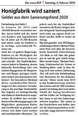 Neuer Ruf Wilhelmsburg
