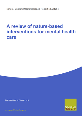 A review of nature-based interventions for mental health care