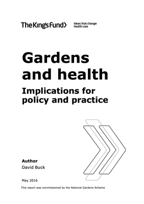 Gardens and health. Implications for policy and practice