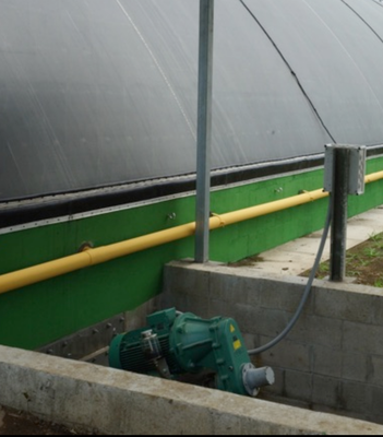 Agitator for lagoon digester - biogasplant