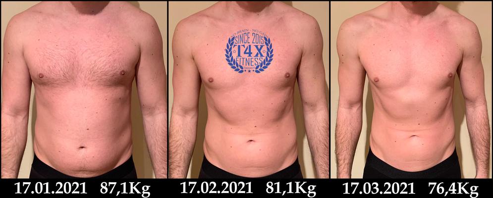 Was alles in nur 8 Wochen mit der Hilfe von Trans4matix möglich ist, zeigt hier Marcell Vidakovic Palocz. Er hat seinen Körper erfolgreich definiert indem er sein gebundenes Unterhautwasser verlor und seinen Körperfettanteil senkte.