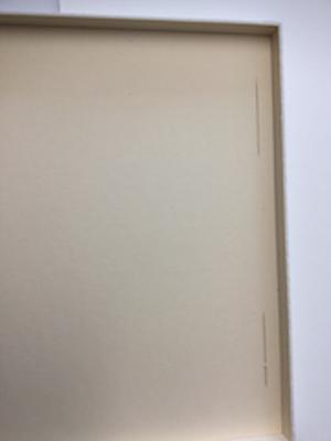 Bild fixieren; Trägerkarton geschlitzt