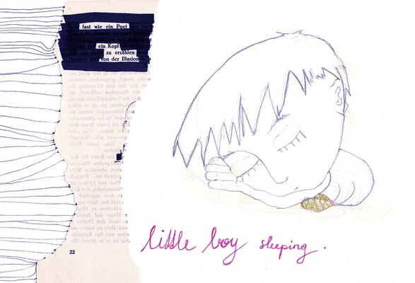 'little boy sleeping'