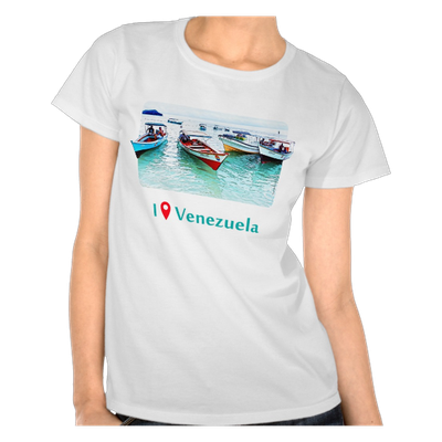 Camiseta I Was in Venezuela, Peñeros en Mochima