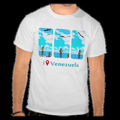 Camiseta I Was in Venezuela, alimentando las tijeretas en Morrocoy