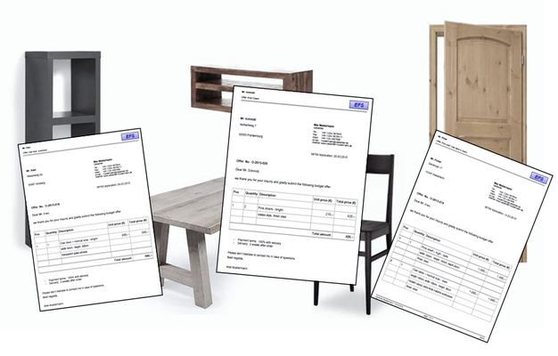 Many quotes for a lot of different furnitures. Need quick access to the documents?