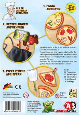 Pizza Monster - Schachtelrückseite