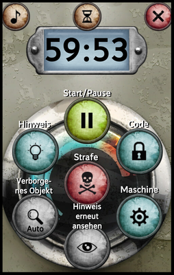 Unlock! App - Szenario Ansicht